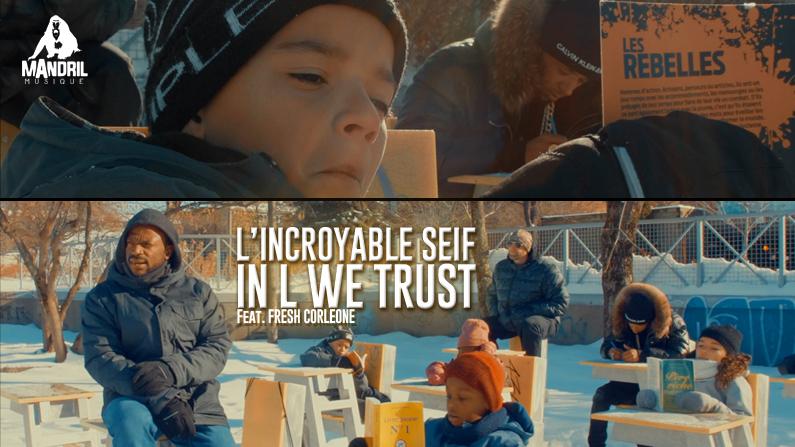 Un nouveau vidéoclip pour L'INCROYABLE SEIF!